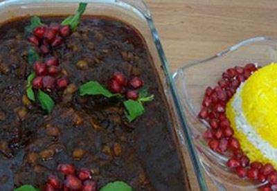 غذای مخصوص شب یلدا,طرز تهیه مسمای انار