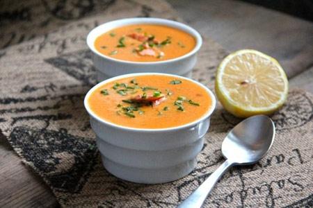 طرز تهیه سوپ سالمون,,نحوه پخت سوپ ماهی