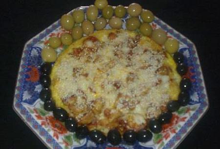 پیتزا املت گل گلم,طرز تهیه پیتزا املت گل گلم