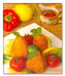 طرز تهیه کوکو سیب زمینی شکم پُر انواع کوکو