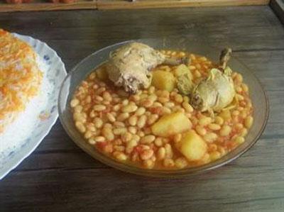 طرز تهیه خورش فاصولیا,فاصولیا با مرغ و لوبیا سفید