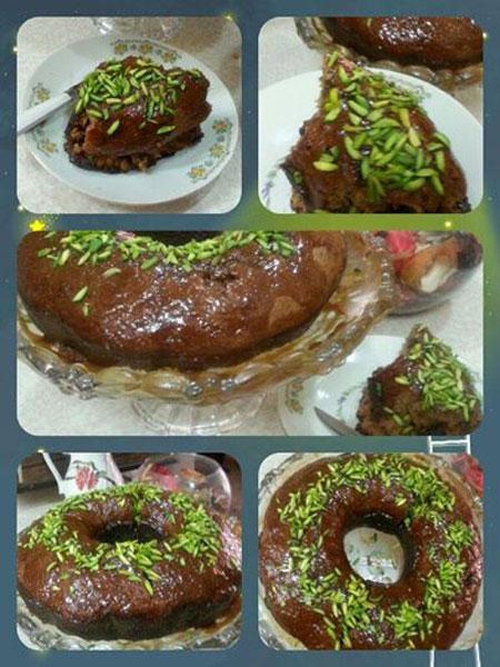 طرز تهیه کیک خرما با سس کاراملی