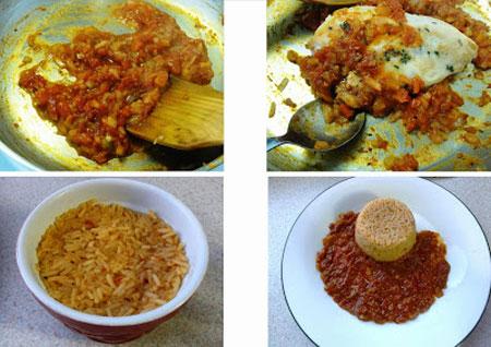 پلو مرغ آفریقایی,طرز پخت پلو مرغ آفریقایی