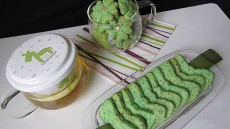 بیسکوئیت چای سبز,طرز پخت بیسکوئیت چای سبز