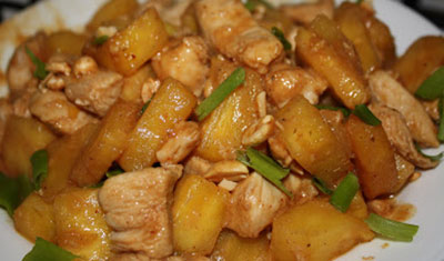چیکن تریاکی و آناناس,تهیه چیکن تریاکی و آناناس