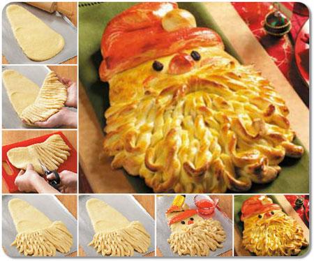 تزیین نان,نان مخصوص کریسمس