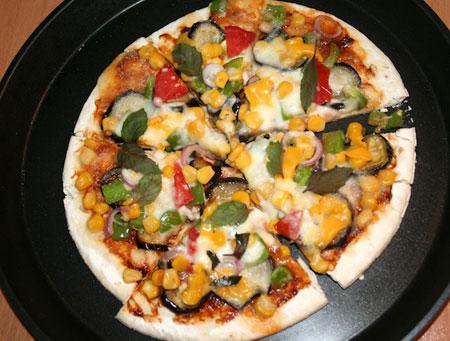 طرز تهیه پیتزا سبزیجات, نحوه پخت پیتزا سبزیجات