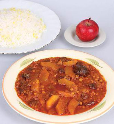 طرز تهیه خورش سیب