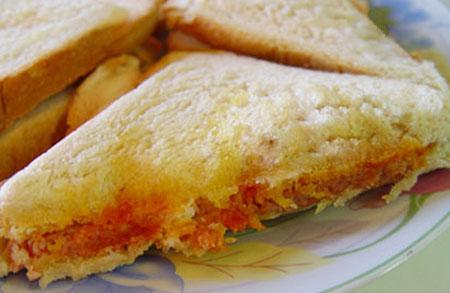 ساندویچ نان تست با نخود,طرز تهیه ساندویچ نان تست با نخود
