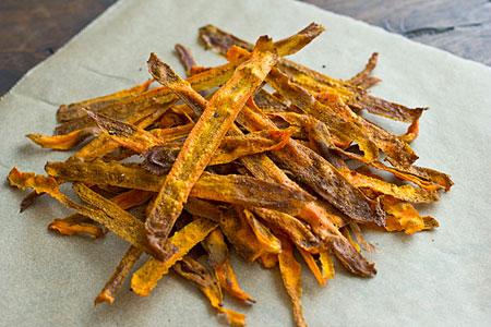 طرز تهیه انواع چیپس,طرز درست کردن چیپس هویج