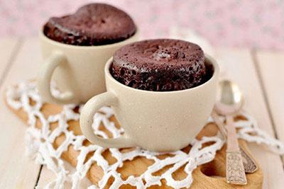 کاپ کیک شکلاتی فوری,طرز تهیه کاپ کیک شکلاتی فوری