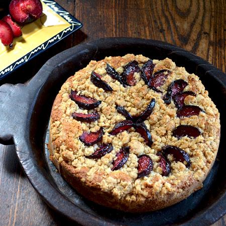 کیک آلو سیاه,پخت کیک آلو سیاه