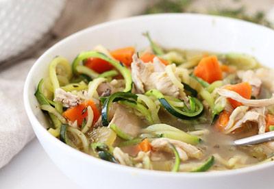 پخت سوپ رژيمي با مرغ و كدو,طرز تهيه سوپ هاي رژيمي