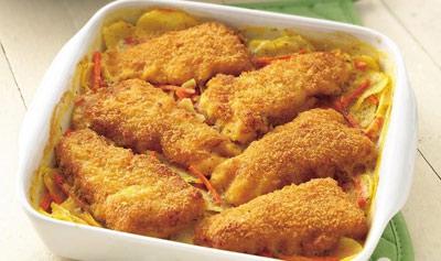 طرز تهیه گراتن سیب زمینی با ماهی