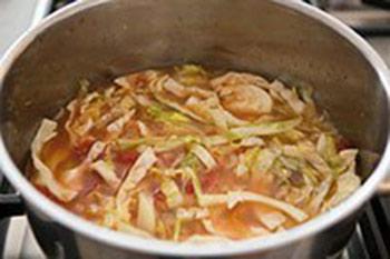 نحوه پخت سوپ کاهو, روش درست کردن سوپ کاهو