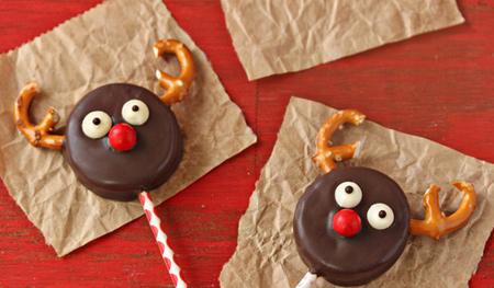آموزش تصویری تزیین شیرینی های کریسمس,طرز درست کردن شیرینی گوزنی
