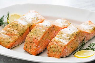 طرز تهیه سالمون با سس خردل عسلی