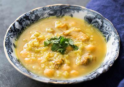 طرز تهیه سوپ نخود و مرغ