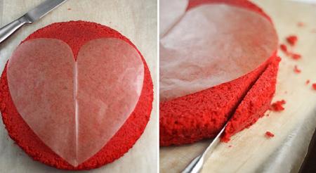 طرز تهیه کیک و شیرینی ولنتاین,طرز تهیه کیک قرمز مخصوص ولنتاین