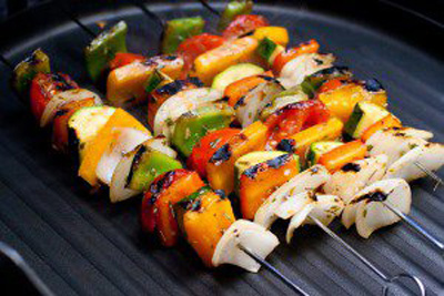کباب سبزیجات یونانی,طرز تهیه کباب سبزیجات یونانی