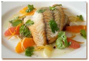 طرز تهیه ماهی کنجدی با سس مرکبات