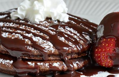 درست پنکیک شکلات و دارچین,طرز تهیه انواع پنکیک