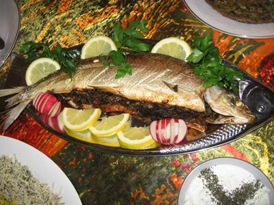 طرز تهیه ماهی شکم پر برای شب عید