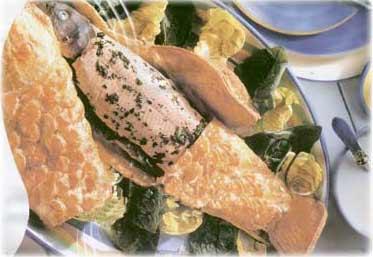 ماهی قزل آلا در خمیر