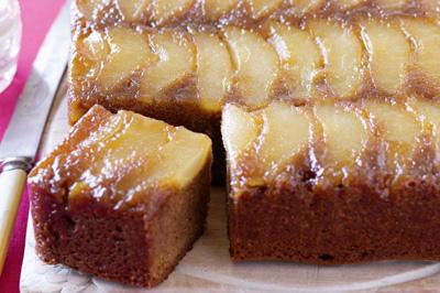 کیک گلابی و زنجبیل,طرز تهیه کیک گلابی و زنجبیل