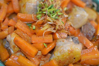 روش های پخت خورش هویج و پسته