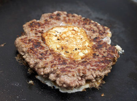 نحوه پخت همبرگر مغزدار, طرز تهیه همبرگر
