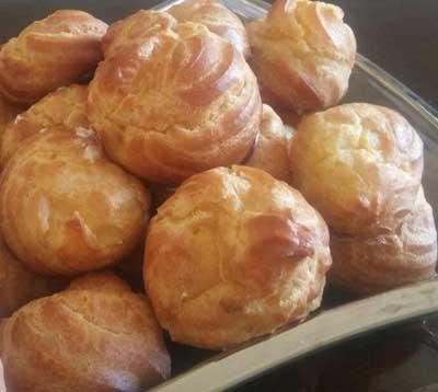 طرز تهیه نان خامه ای,مواد لازم برای نان خامه ای