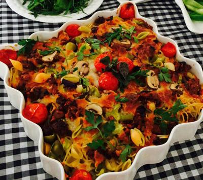 ماكارونی و پاستا با پنير پيتزا