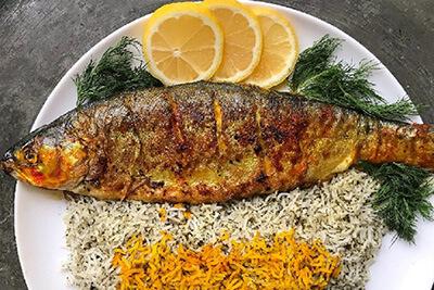 طرز تهیه ماهی قزل آلا,ماهی قزل آلا داخل فر