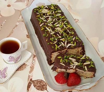 طرز تهیهی کیک یخچالی