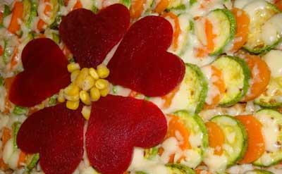 گراتن كدوی سبز و هویج