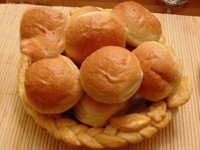 تزیین ظرف نان