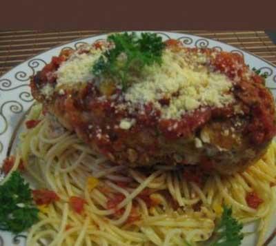 اسپاگتی با سس مرغ