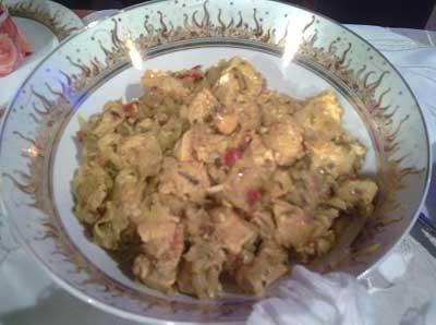 طرز تهیه مسما, پخت مسمبا مرغ