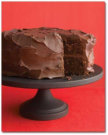 کیک شکلاتی به شیوه مارتا استوارت,طرز تهیه  کیک شکلاتی به شیوه مارتا استوارت
