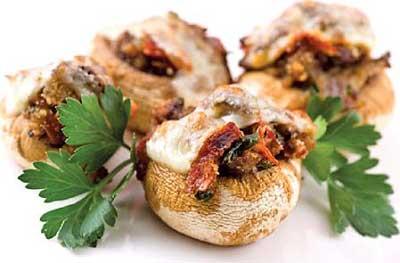 آشپزی,دلمه قارچ با مرغ, طرز تهیه دلمه قارچ با مرغ