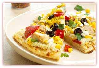 پیتزای مرغ و ذرت به روش ایتالیایی