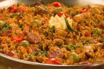 برنج و مرغ را به سبک اسپانیایی,طرز تهیه برنج و مرغ را به سبک اسپانیایی