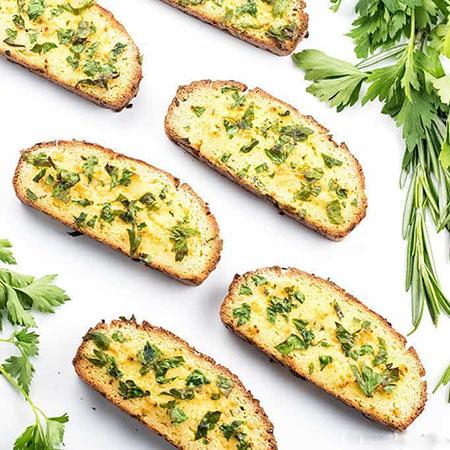 طرز تهیه نان کتوژنیک ساده, نان کتوژنیک گل کلم, نان کتوژنیک سیر با پنیر