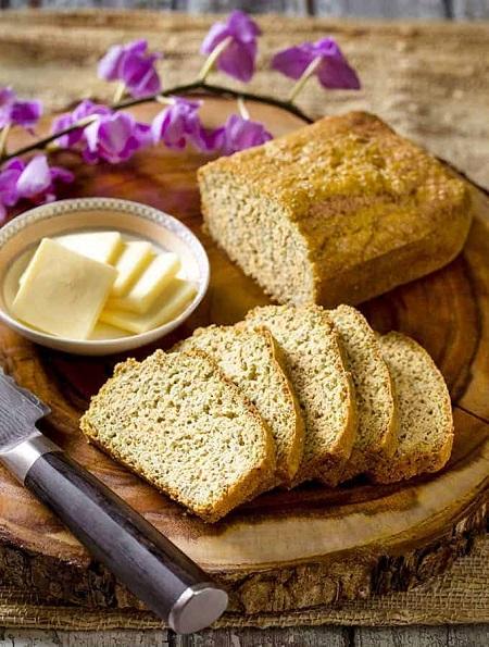 نان کتوژنیک سیر با پنیر, نان کتوژنیک با آرد بادام, نان ابری کتوژنیک