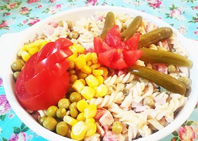 پخت سالاد ماکارونی,طرز پخت سالاد ماکارونی