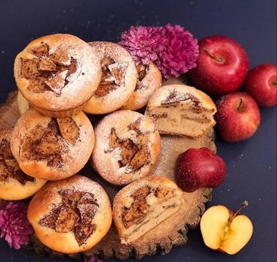 مواد لازم برای تهیه کیک سیب,پخت کیک سیب