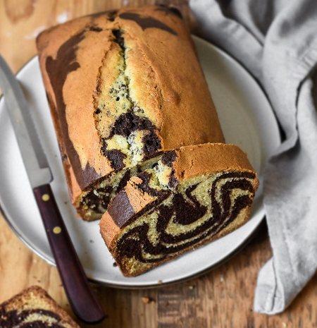 تکنیک ماربل روی کیک, طرز تهیه کیک ماربل برانیز, طرز تهیه ماربل کیک