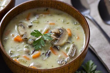 سوپ شیر و خامه با قارچ،طرز تهیه سوپ شیر و خامه