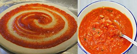 پیتزا قارچ و گوشت,طرز تهیه پیتزا قارچ و گوشت